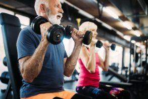 mature man doing exercise feeling good after naadi okc healthcare DVT Pad doctors treatment